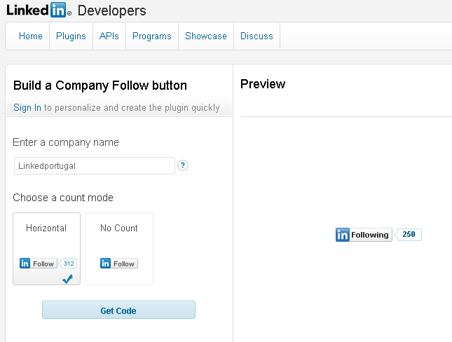 "Novo Widget Linkedin ""Follow"" ou ""Seguir"" Empresa"