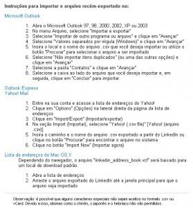 Exportar contatos Linkedin3