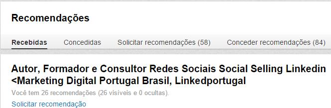 Recomendações Linkedin