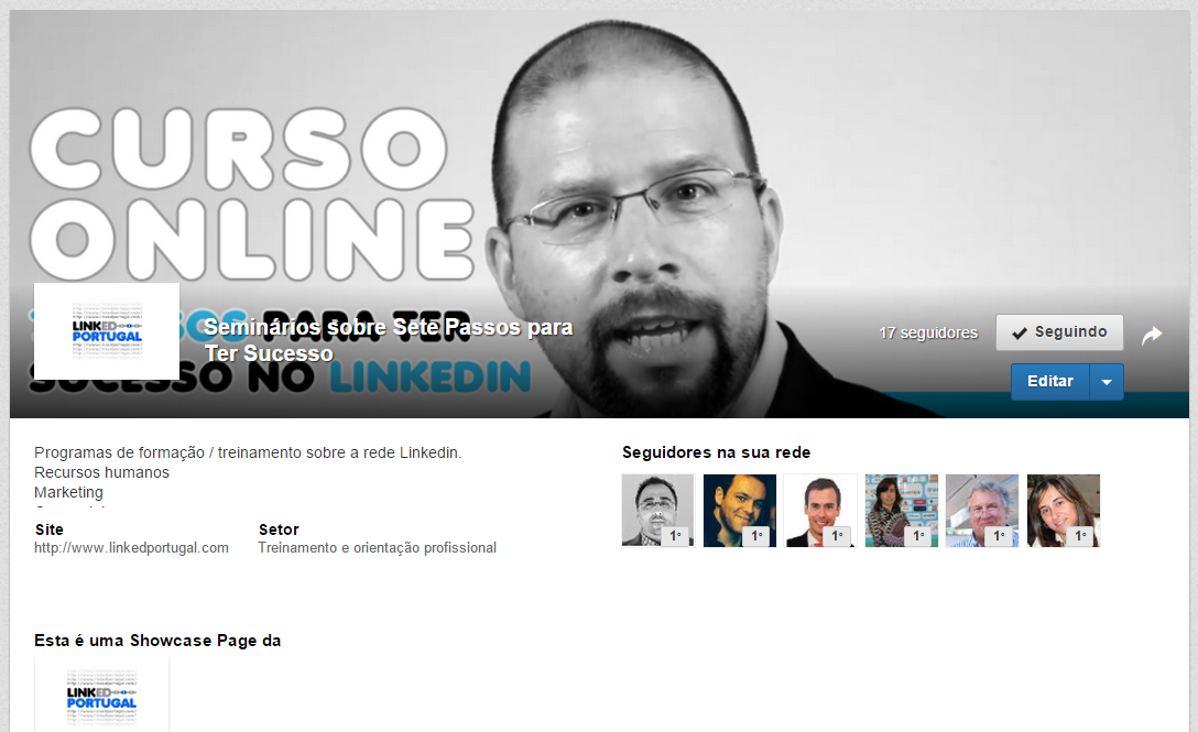 paginas showcase Linkedin