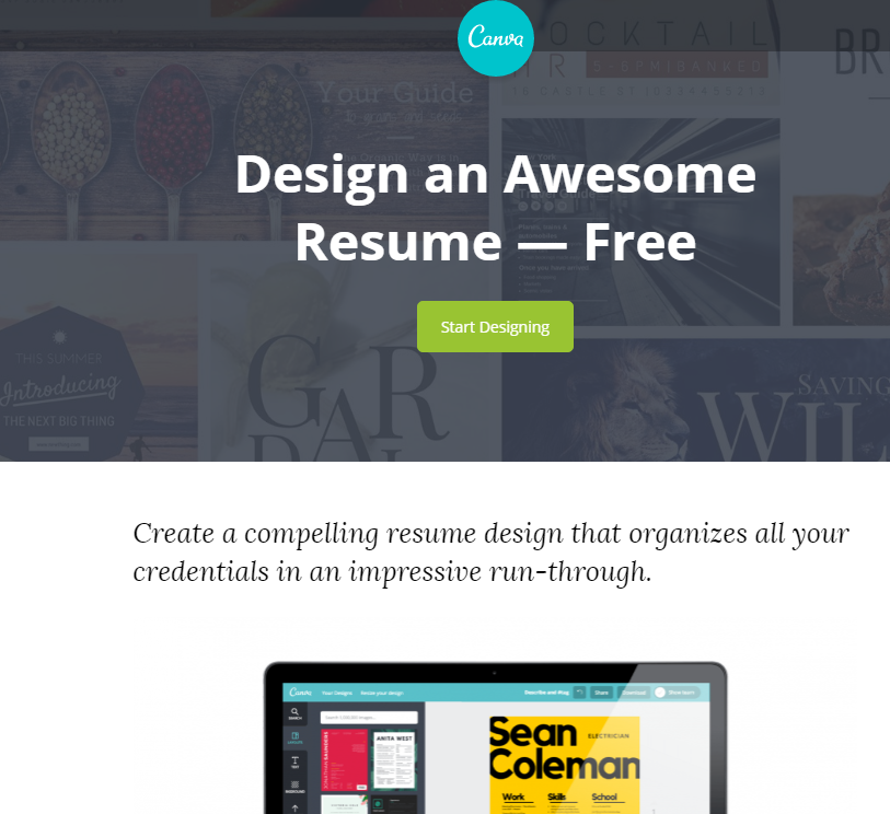 Canva Resume Maker