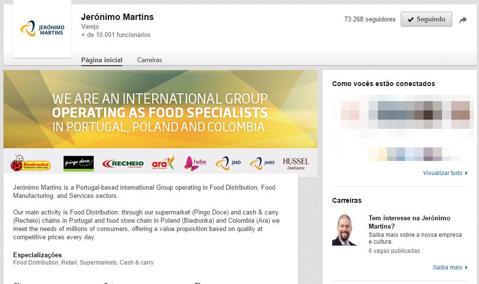 Jeronimo Martins Linkedin